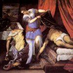 Тинторетто, Якопо Юдифь и Олоферн 1550-1560 188 x 251 см Холст Мадрид. Прадо