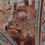 Чимабуэ, Джованни. Фрески Верхней церкви Сан Франческо в Ассизи, фреска на средокрестном своде, сцена: св.Марк, деталь: архитектура (Италия). 1280-1283