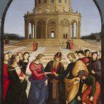 Рафаэль Санти Обручение Девы Марии. 1504 Lo sposalizio della Vergine Дерево, масло. 174 × 121 см Брера, Милан