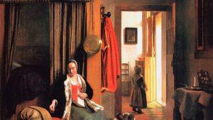 """""""Мать у колыбели"""", Картинная галерея, Берлин-Далем, оба около 1660"""