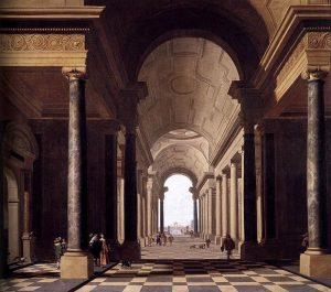 Fantasia architettonica con figure (1638)