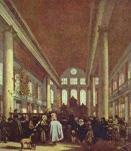 Эмануэль де Витте. Португальская синагога в Амстердаме, 1680. Амстердам, Королевский музей