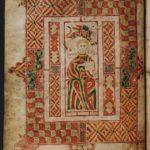 Св. Марк. Евангелие Мак-Регола. Лист 51v. Ок. 800 г. Оксфорд, Бодлианская библиотека, MS Auct. D. 2. 19 (S. C. 3946)