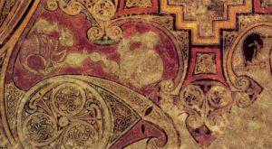 16. Монограмма «Хи-Ро». Фрагмент. Келлская Книга. Лист 34r. Ок. 800 г. Дублин, Библиотека Тринити-Колледжа, Ms. 58 (A.I.6)