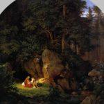 людвиг рихтер женевьева брабантская в лесу