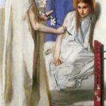 Данте Габриэль Россетти Благовещение. 1850 Ecce Ancilla Domini холст, масло. 73 × 41,9 см см галерея Тейт, Лондон