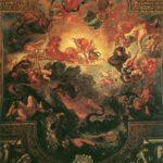 Аполлон - победитель змея Пифона. 1850-1851. Плафон галереи Аполлона в Лувре.
