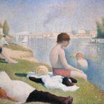 купальщики на сене 1884