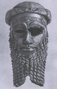 Голова Саргона Древнего из Ниневии. Медь. 23 в. до н. э. Багдад. Иракский музей