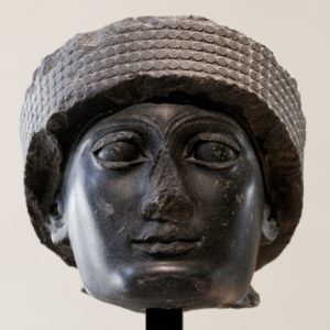 Голова статуи Гудеа из Лагаша. Диорит. 22в. до н. э. Париж. Лувр