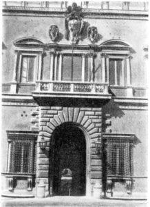 Палаццо Фарнезе. Общий вид и фрагмент главного фасада