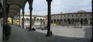 Современный вид площади Аннунциаты во Флоренции