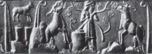 Цилиндрическая печать. Период Джемдет-Наср. Около 3000 г. до н. э.