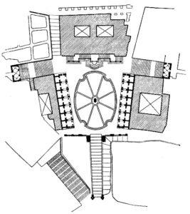 Микеланджело. Площадь Капитолия в Риме. После 1536 г. План.