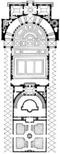 Амманати и Виньола. Вилла Джулия (вилла папы Юлия III) в Риме. Начата в 1550 г. План.