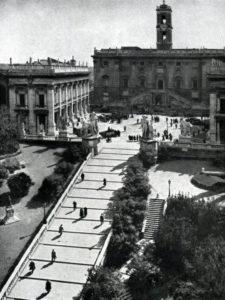 Микеланджело. Площадь Капитолия в Риме. После 1536 г. Общий вид.