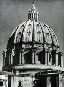 Микеланджело. Купол собора св. Петра в Риме. После 1546 г., закончен Джакомо делла Порта в 1588- 1590 гг.