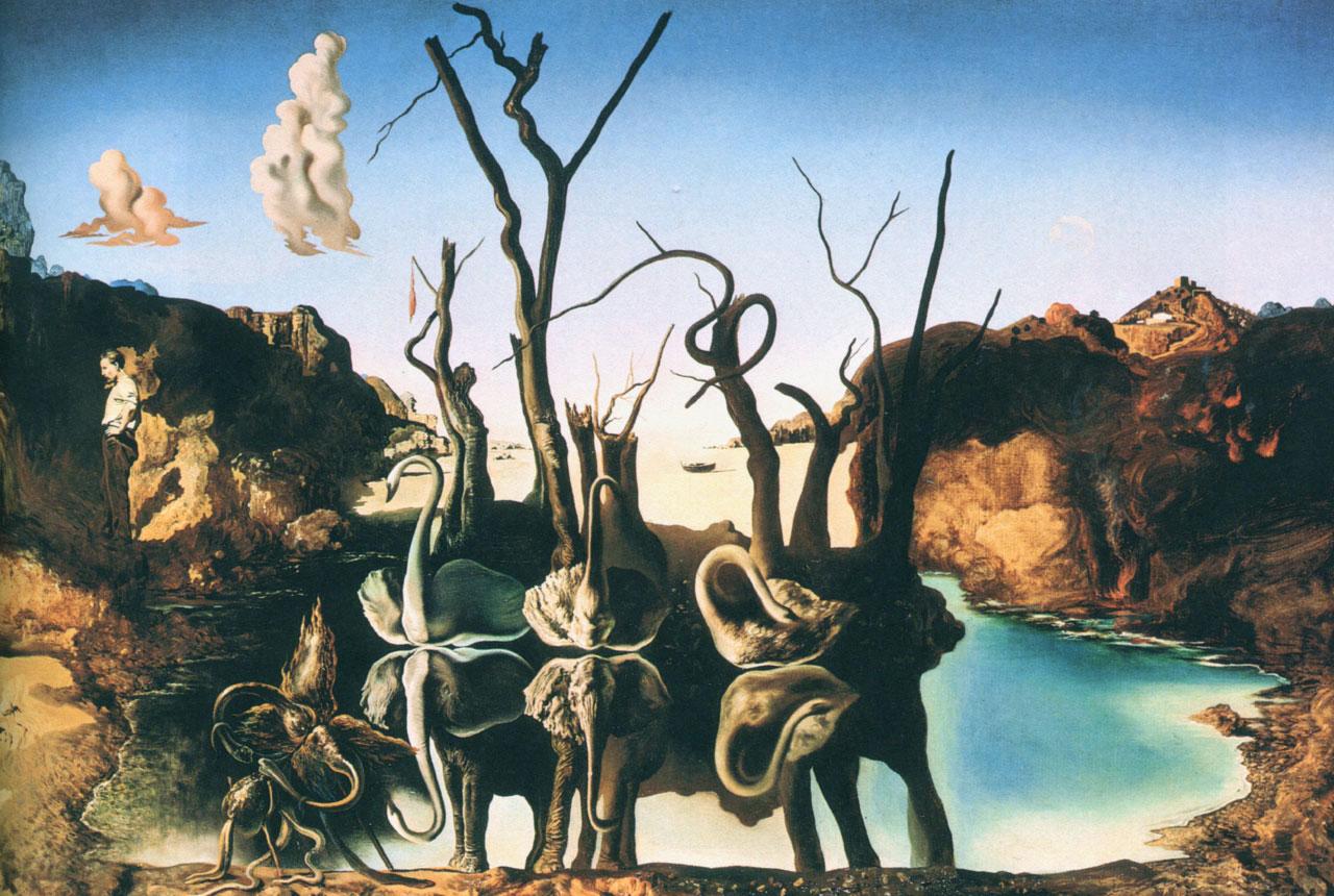 Сальвадор Дали Лебеди, отражающиеся в слонах. 1937 Холст, масло. 61 × 77 см Частная коллекция