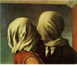 Магритт. Влюбленные. 1928