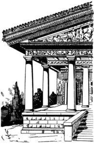 Этрусский храм. Реконструкция.