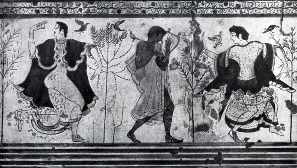 Танец. Роспись гробницы в Корнето. Начало 5 в. до н. э.