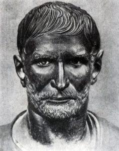 Портрет римлянина (так называемый первый консул Брут). Бронза. Вторая половина 4 в. до н. э. Рим. Палаццо Консерватори.