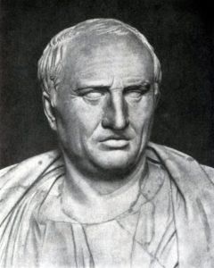 Портрет Цицерона. Мрамор. 1 в. до н. э. Рим. Капитолийский музей.