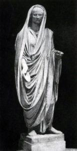 Статуя римлянина, совершающего возлияние. Мрамор. 1 в. до н. э. Рим. Ватикан.