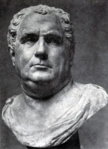 Портрет Вителлия. Мрамор. 68—69 гг. н. э. Париж. Лувр.