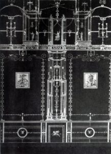 281 а. Помпейская роспись третьего стиля. Конец 1 в. до н. э. — начало 1 в. н. э