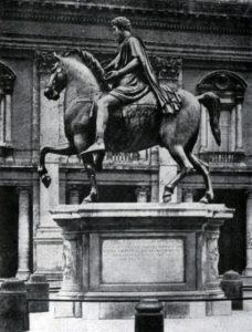 Конная статуя Марка Аврелия. Бронза. Около 170 г. Рим. Капитолийская площадь