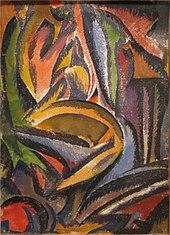 Man Ray, 1913, Пейзаж ( Paysage Fauve ), акварель на бумаге, 35,2 x 24,6 см, Смитсоновский американский художественный музей