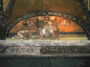 Императорские врата. Надпортальная мозаика. София Конст, 10 век