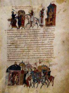 Император Феофил предаёт казни убийц Льва V;. Мадридский Скилица