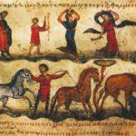 Охотничья сцена и танец менад. Марчиан