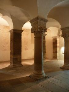 Вестверк церкви монастыря в Корби, IX в. Интерьер