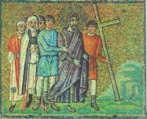 Несение креста. Мозаика Сан Аполлинаре Нуово