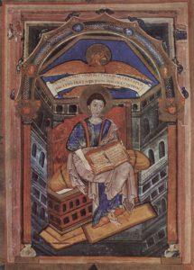 Портрет Иоанна Евангелиста из Евангелия или Св. Медард де Суассон.