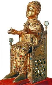 Статуя св. Веры во славе. Конец 10 в. Конк.