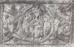 Христос во славе. Рельеф алтаря герцога Ратхиса, 731—734 гг. Чивидале, церковь Сан Мартино