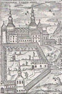 Церковь Сен-Рикье (гравюра VII в.)