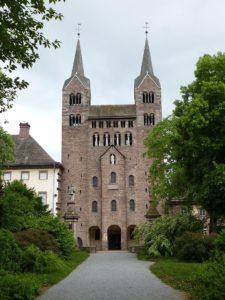 Церковь монастыря в Корби, IX в. Западный фасад