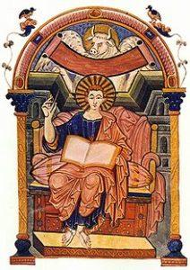 85v Евангелие Ады, портрет евангелиста Луки