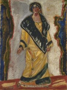 Г.Якулов. Женщина в желтом пальто