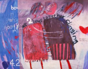 Дэвид Хокни. Два сцепившихся мальчишки. 1961
