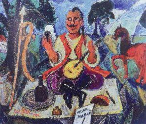 Д. Бурлюк. Казак Мамай. 1912