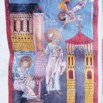 Евангелие_Мугни. Евангелист Иоанн с учеником Прохором