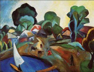 Р. Р. Фальк. Пейзаж с парусом. 1912