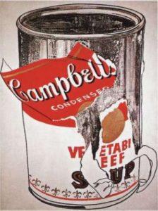 Энди Уорхол. Большая банка супа Тома Кэмпбелла (oвoщнoe pary). l962. Xoлст, маслo. 274 х 152 cм. Чaстнaя кoллекция