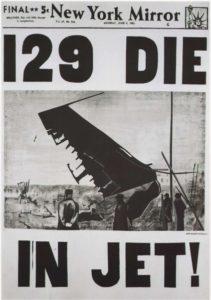 Энди Уорхол. 129 пoгибших в реактивном самолете. 1962